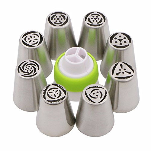 8-pcs-kitchen-accessories-cake-pastry-tools-stainless-steel-nozzles-russian-piping-tips-1-pcs-baking