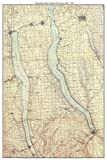 Seneca & Cayuga Lakes - 1903 USGS Old Topographical Map Custom Composite Print New York Finger Lakes