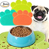 Kedera 5 PCS Cat Litter Mat Litter - PVC Placemat Food Cat Litter Mat Pet Paw Shape Mat - Easy Clean and Floor Carpet Protection