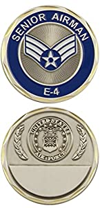 U.S. Air Force Senior Airman E-4 Challenge Coin