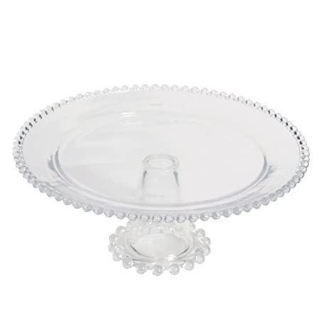 Bella Perle Luxury Beaded Glass Cake Stand Perfect For Family