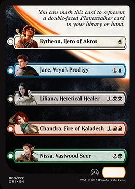 Magic: the Gathering - Planeswalker Checklist Card - Origins