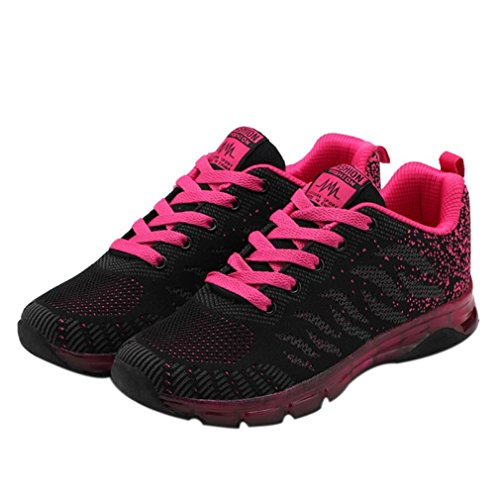 Sneakers Casual Women Lace pink Shoes Net Running Sneakers Gym Shoes Yoga Cushion Sneakers Fashion Diadia up Hot Air Sports Student dRwvxqq7X