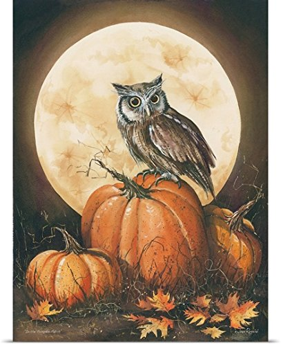 John Rossini Poster Print entitled In the Pumpkin Patch