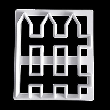 bhty235 Molde de plástico para hornear pasteles y fondant