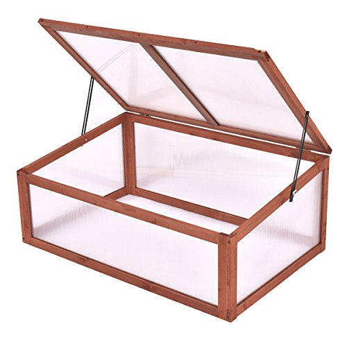 Maximumstore Garden Portable Wooden Green House Cold Frame Raised Plants Bed Protection New by Maximumstore (Image #2)