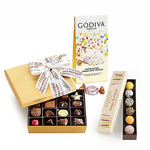 Set Gift Happy Birthday (Godiva Chocolatier Birthday Celebration Gift Set)