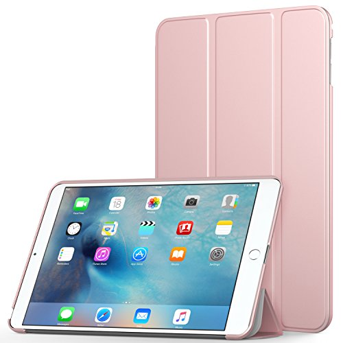 MoKo Case Fit iPad Mini 4 - Slim Lightweight Smart Shell Stand Cover Case with Auto Wake/Sleep Fit Apple iPad Mini 4 (2015 Edition) 7.9 inch iOS Tablet, Rose Gold