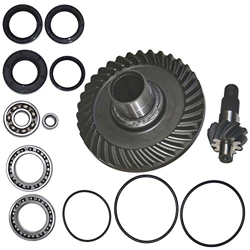 Fourtrax Rear Differential Ring and Pinion Gear & Bearing Fits 1988-2000 Honda TRX300FW - Train Gear End