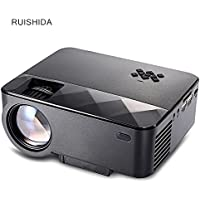 Joyhero Portable 2500 Lumens Home LCD Projector Multimedia player with 800 x 480 pixels and 2000:1 contrast ratio