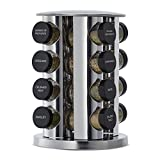 Kamenstein 16-Jar Revolving Spice Tower with Free Spice Refills for 5 Years