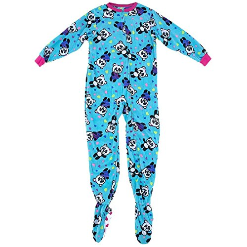 komar kids blue panda onesie footed pajamas for little