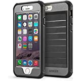 iPhone 6s Case, Anker Ultra Protective Case With Built-in Clear Screen Protector for iPhone 6 / iPhone 6s (4.7 inch) , Dust Proof Design (Black/Grey)