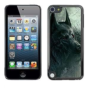 Jordan Colourful Shop - Werewolf Dark Moon Night Scary Black For Apple iPod Touch 5 Personalizado negro cubierta de la caja de pl????stico