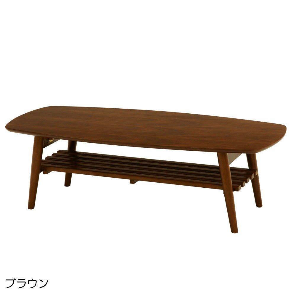 インテリア リビング 家具 スクエア サイズ ナチュラル な インテリアテーブル 折れ脚テーブル ブラウン B00TEPAWEG
