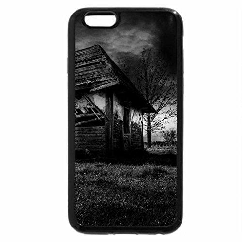 iPhone 6S Plus Case, iPhone 6 Plus Case (Black & White) - gothic abandoned cabin