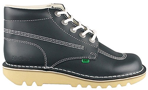 Kickers Kick Hi Core Navy White Leather Mens Boots-42