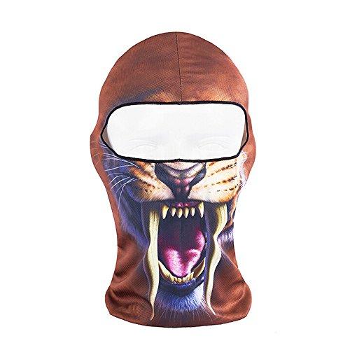 Ezyoutdoor Full Face Motorcycle Bicycle Bike Skull Mask Snowmobile Hood Neck Balaclava Hat Animal Outdoor Sport Cosply Costume (Guys Dance Costumes)