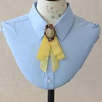 ZLYAYA,corbata,pajarita,Flor de estilo europeo y americano chica ...