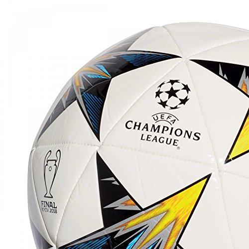 adidas Herren Finale Kiev Ball, Blanc/Noir/Jaune Solaire/Bleu, Einheitsgröße Bianco/Nero/Solar Yellow/Blu /Clear Aqua/Orange