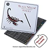 Black Widow ® Colored Pencils for Adults, the Best Color Pencil Set