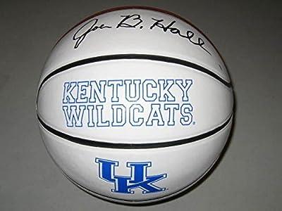 Joe B. Hall Kentucky Wildcats Signed Logo Basketball 1978 National Champs Offer - Autographed College Basketballs