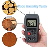 Digital Wood Moisture Meter 0-99.9% Humidity Tester,Precise Testing Timber Damp Detector with Four Kinds of Patterns
