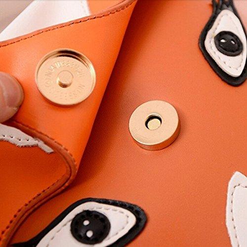 TOOGOO(R) arancia Sacchetto del messaggero delle nuove donne di modo donne della borsa della borsa del sacchetto del fumetto della borsa