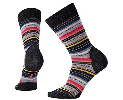 - Smartwool Margarita Stripe Crew Sock, M, Charcoal Stripe