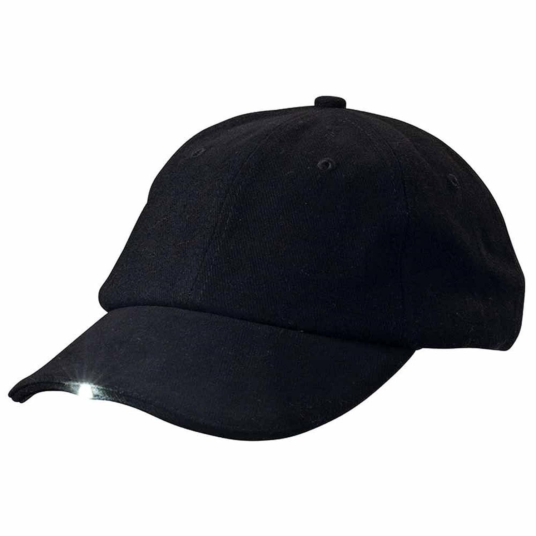 MYRTLE BEACH - Casquette éclairante éclairage par 3 lampes LED intégrées - MB6556 - coloris noir