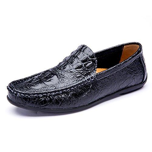 Scarpe qualità che Uomo scarpe Nero le da di alta auto Casual guida Classico fnw7qT