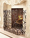 Bronze Fleur De Lis Fire Place Screen French Fireplace Wrought Iron