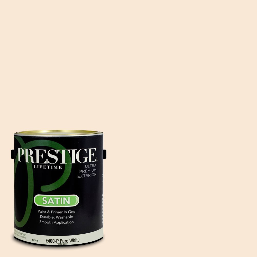 Prestige Paints Exterior Paint and Primer In One, 1-Gallon, Satin,  Comparable Match of Benjamin Moore Mystical Powers