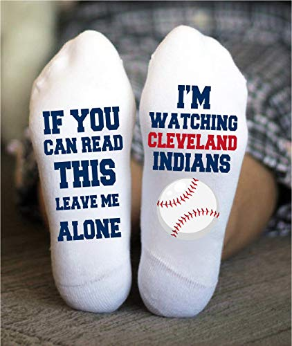 - Cleveland Indians Socks Funny Birthday Gifts Baseball Game