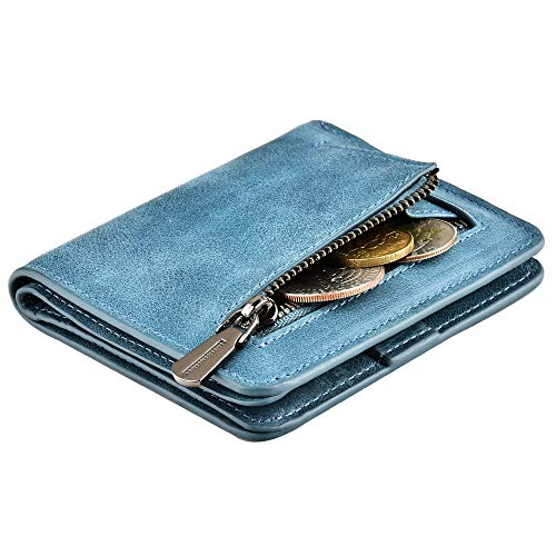 Accordion Wallet RFID Leather Card Wallet for Women Credit Card -