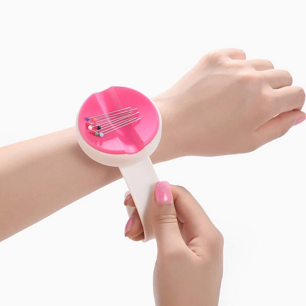 Magnetic Needle Pin Cushion Holder Wrist Sewing Cross Stitch Knitting Pincushions Tools Pink