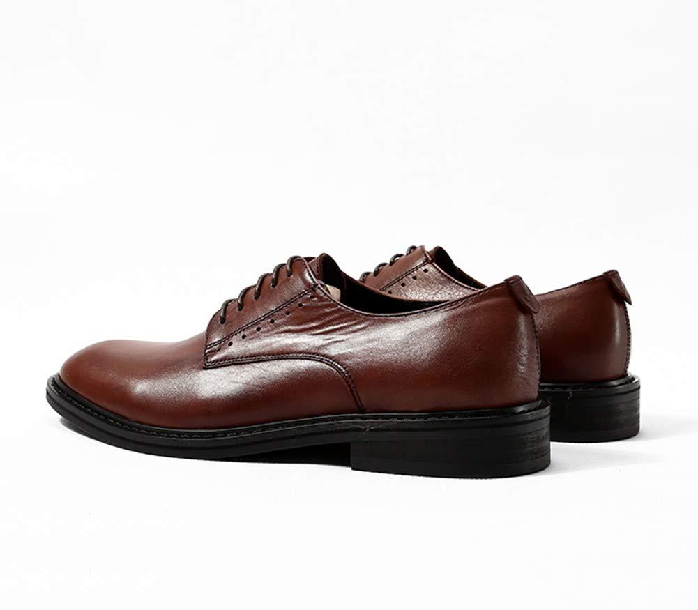 LEFT&RIGHT Mens Leder Oxfords Formelle Geschäfts Runde Kleid Schuhe, Runde Geschäfts Kappe Leder Lace Up Derby Hochzeit Modisch 3982a6