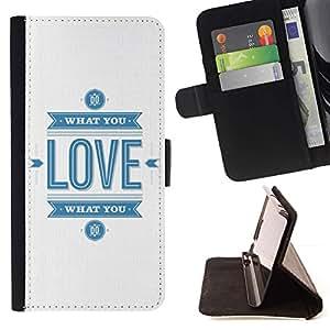 For Sony Xperia Z5 Compact Z5 Mini (Not for Normal Z5) Case , Cita Blanco Azul Logo- la tarjeta de Crédito Slots PU Funda de cuero Monedero caso cubierta de piel