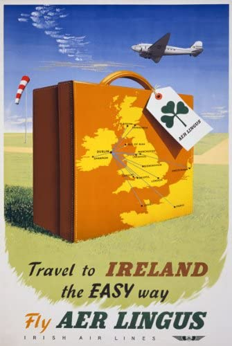 TX33 Vintage 1950/'s Travel To Ireland Irish Framed Travel Poster Re-Print A3//A4