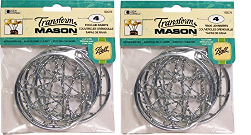Loew Cornell, TransforMASON 4 Pack Frog Lid Inserts, 2 Pack (Total 8)
