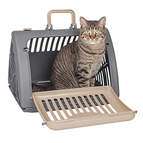 SportPet Designs Foldable Travel Cat Carrier - Front Door Plastic Collapsible Carrier ()