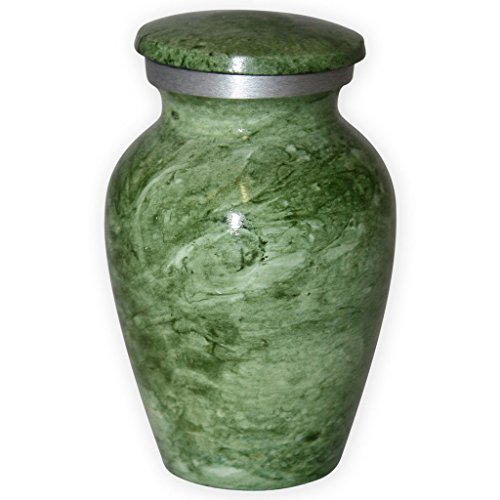 Beautiful Life Urns Apollonia Green Keepsake Urn for Ashes - Small Size - NOT Intended for Full Cremation Ash Quantity