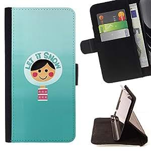 For Samsung Galaxy Note 4 IV Case , Nevar trullo invierno Cita minimalista- la tarjeta de Crédito Slots PU Funda de cuero Monedero caso cubierta de piel