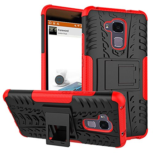 Honor 5C Case,XYX [Red] [Kickstand][Shock Absorption] Dazzle Bracket Dual Layer Defender Protective Case Cover for Huawei Honor 5C
