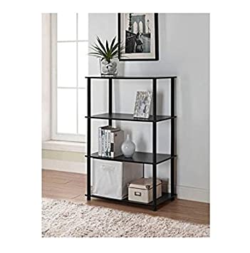 Mainstays No Tools 6 Cube Storage Shelf (Black Oak)