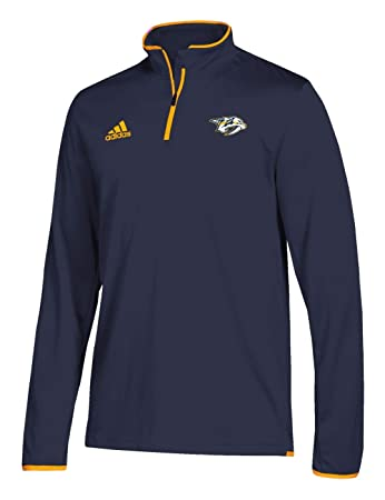 adidas Nashville Predators Authentic 1 4 Zip NHL Jacket Navy  Amazon ... 2f996bd63