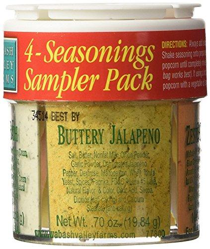 Jalapeno Popcorn Seasoning - Wabash Valley Farms 4 Seasonings Popcorn Sampler Pack