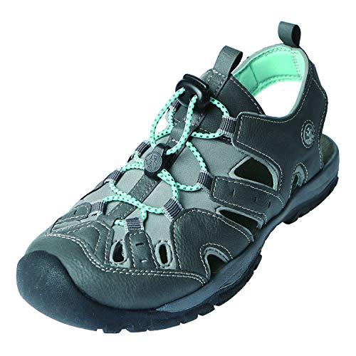 Waterproof Hiking Sandals - Northside Women's Burke II-W Sport Sandal, Dark Gray/Aqua, 7 M US