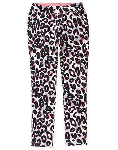 Gymboree Little Girls' Leopard Knit Pant, Multi, 6