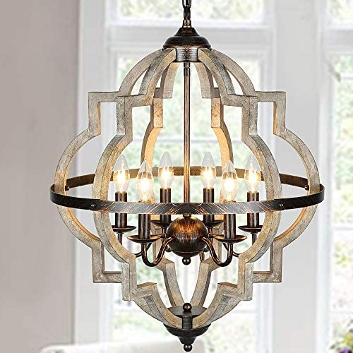 Cheap T A Orb 6-Light Farmhouse Chandelier dining room chandelier for sale